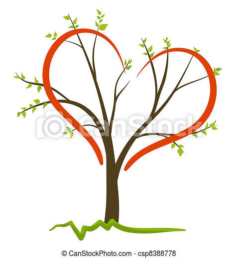 simbolo, vettore, amore, natura - csp8388778