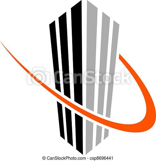 simbolo, vettore, grattacielo - csp8696441