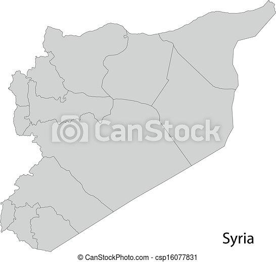 siria, grigio, mappa - csp16077831