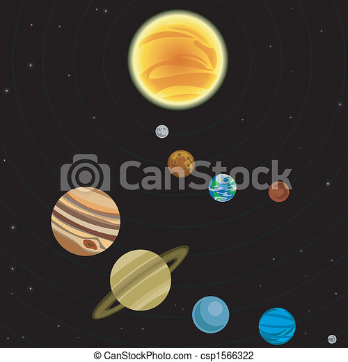 sistema, illustrazione, solare - csp1566322