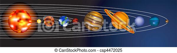 sistema, illustrazione, solare - csp4472025
