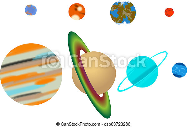sistema solare, pianeti - csp63723286