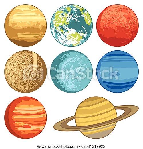 sistema solare, pianeti - csp31319922
