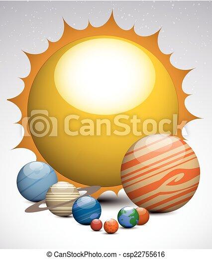 sistema solare, pianeti - csp22755616