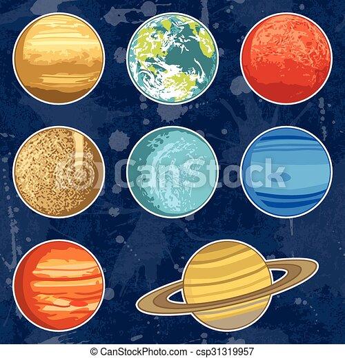 sistema solare, pianeti - csp31319957