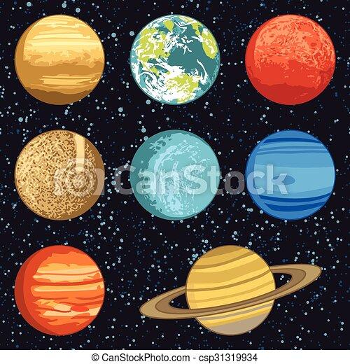 sistema solare, pianeti - csp31319934