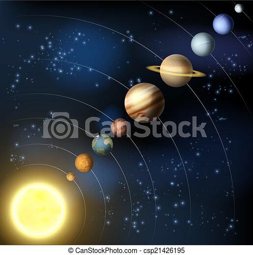 sistema, solare, spazio - csp21426195