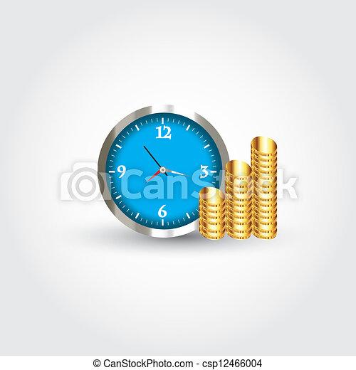 soldi, orologio - csp12466004