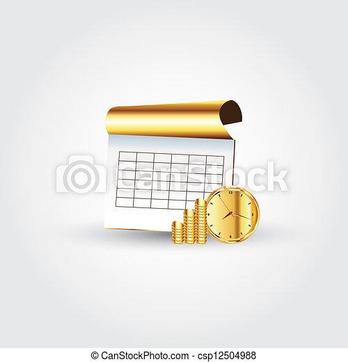 soldi, quaderno, tempo - csp12504988