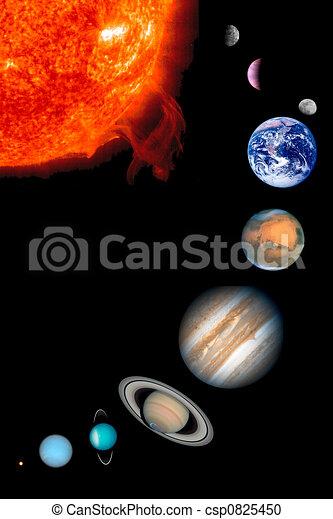 sole, nove, pianeti - csp0825450