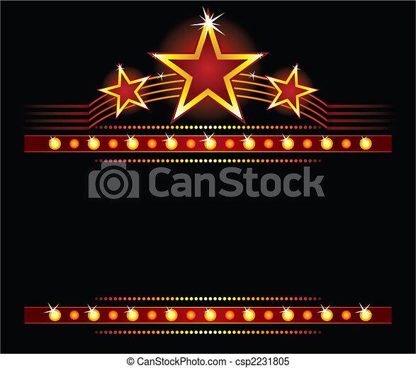 sopra, stelle, copyspace - csp2231805