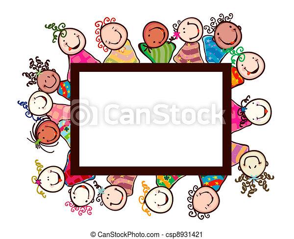 sorridente, bambini - csp8931421
