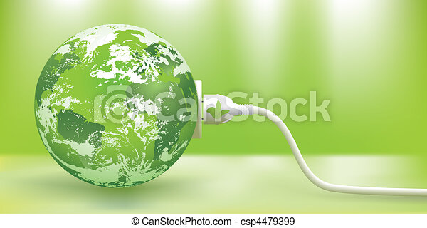 sostenibile, vettore, energia, verde, concetto - csp4479399
