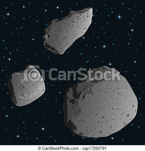 spazio, asteroidi - csp17250791