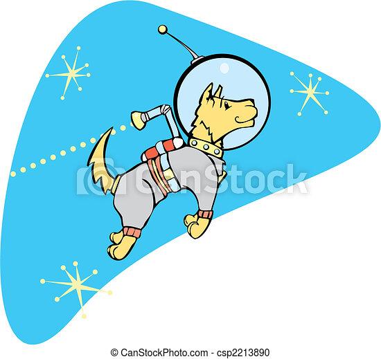 spazio, cane, jetpack - csp2213890