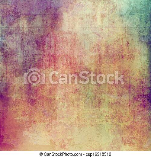 spazio, vendemmia, immagine, struttura, testo, o - csp16318512
