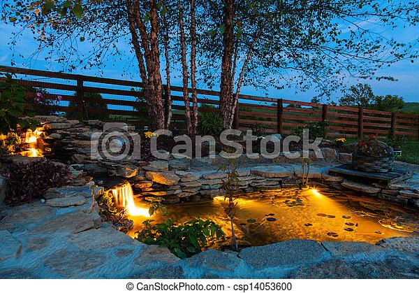 stagno, giardino - csp14053600