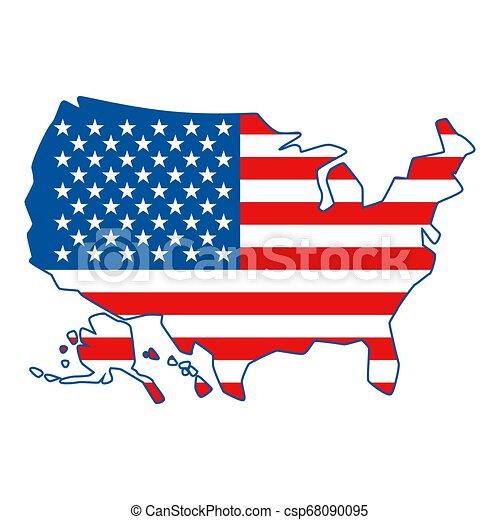 stati, mappa, america., unito - csp68090095
