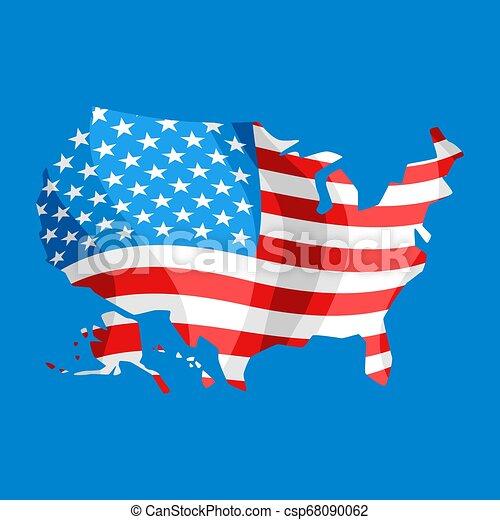 stati, mappa, america., unito - csp68090062