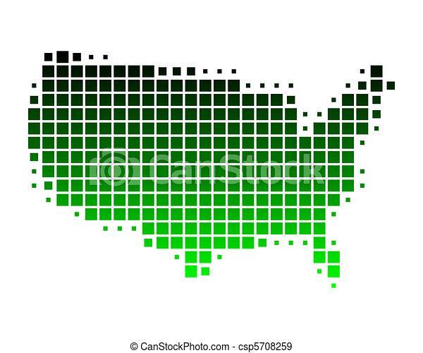stati, mappa, unito, america - csp5708259
