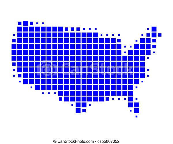 stati, mappa, unito, america - csp5867052