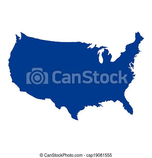 stati, mappa, unito, america - csp19081555
