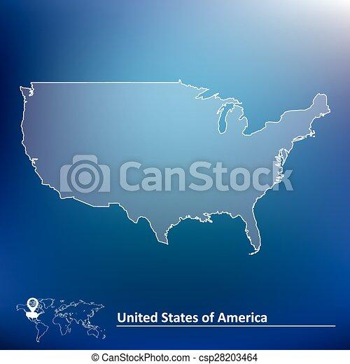 stati, mappa, unito, america - csp28203464