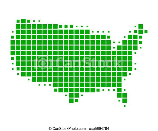 stati, mappa, unito, america - csp5694784