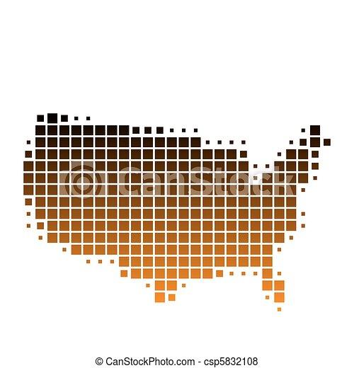stati, mappa, unito, america - csp5832108