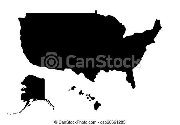 stati, mappa, unito, america - csp60661285