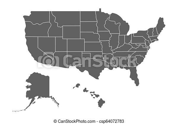 stati, mappa, unito, america - csp64072783