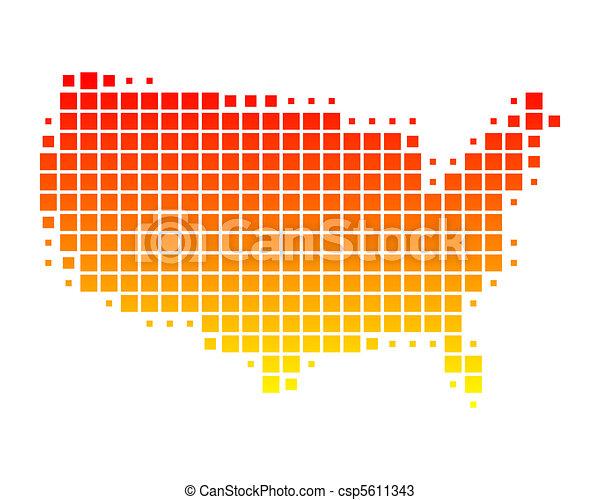stati, mappa, unito, america - csp5611343