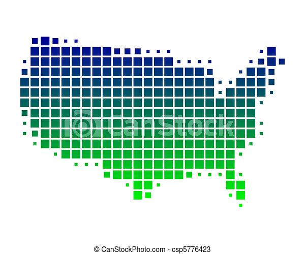 stati, mappa, unito, america - csp5776423