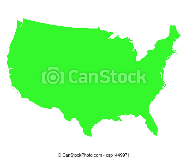 stati, mappa, unito, contorno, america - csp1449971