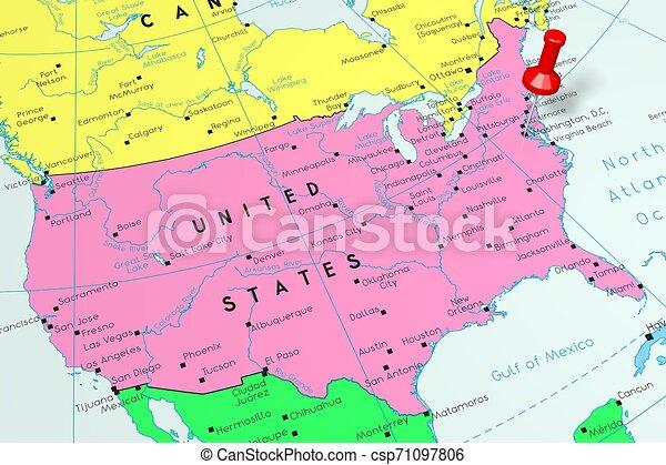 Cartina Con Capitali Europa.Cartina Politica Degli Stati Uniti Con Capitali