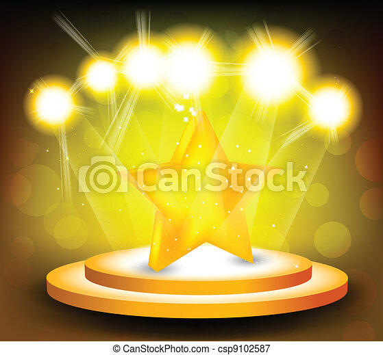stella, fondo, palcoscenico - csp9102587