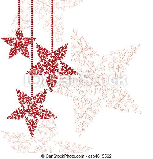 stella, ornamenti natale, rosso - csp4615562