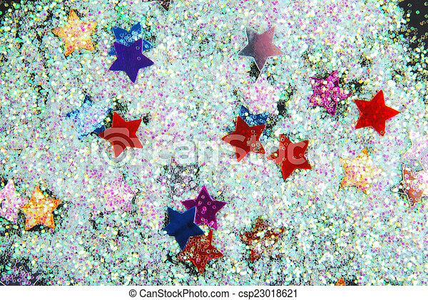 stelle, nero, brillare - csp23018621