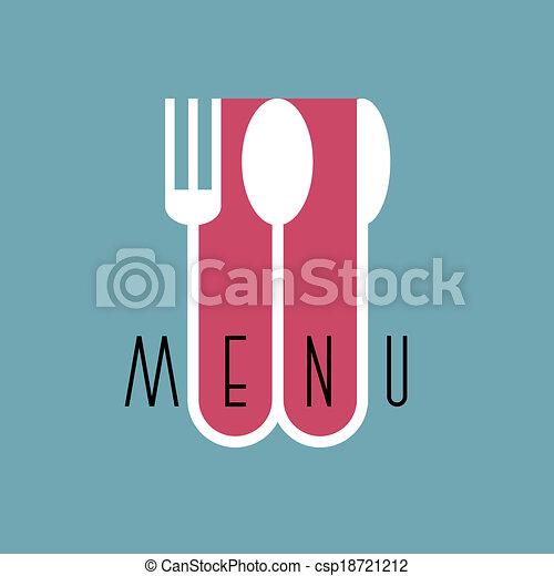 stile, menu ristorante, -, variazione, 3, disegno, elegante, minimo - csp18721212