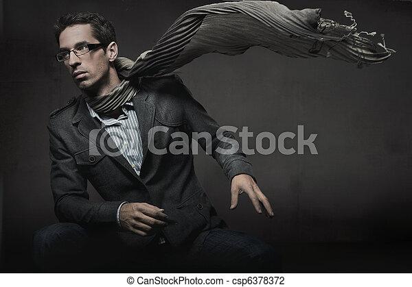 stile, moda, foto, elegante, splendido, uomo - csp6378372