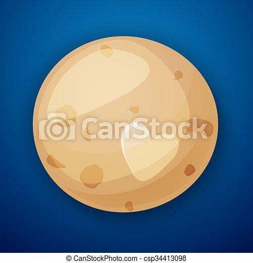 stile, spazio, pianeta, plutone, oggetti, cartone animato - csp34413098