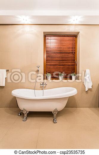 stile, vasca bagno, vecchio - csp23535735