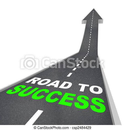 strada, freccia, -, su, successo - csp2484429