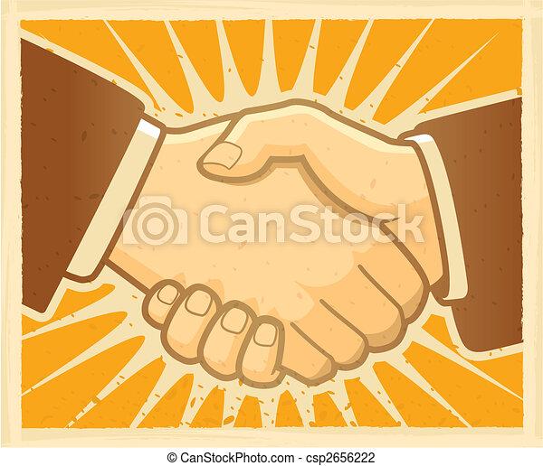 stretta di mano, accordo - csp2656222