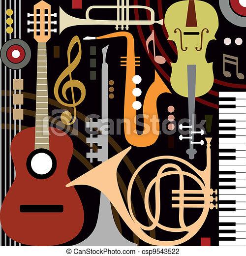 strumenti, astratto, musicale - csp9543522