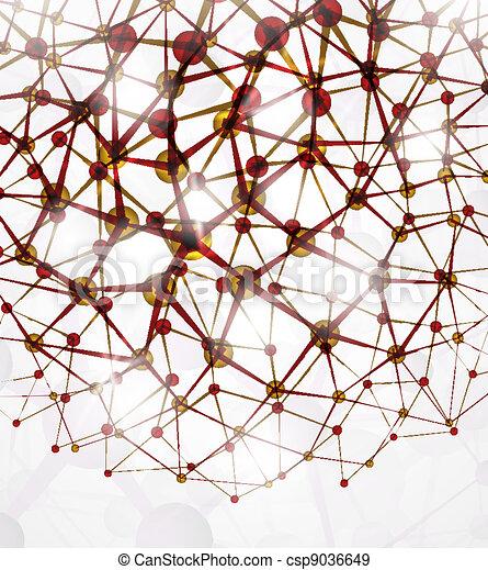 struttura molecolare - csp9036649