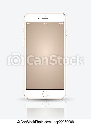 su., smartphone, oro, beffare - csp22059008