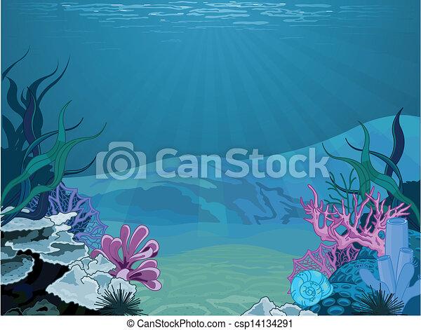 subacqueo, paesaggio - csp14134291