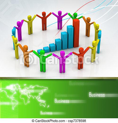 successo, affari - csp7378598