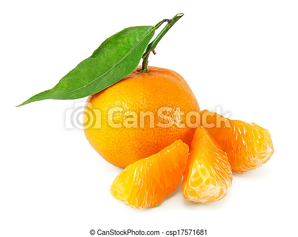 succoso, fresco, mandarini - csp17571681
